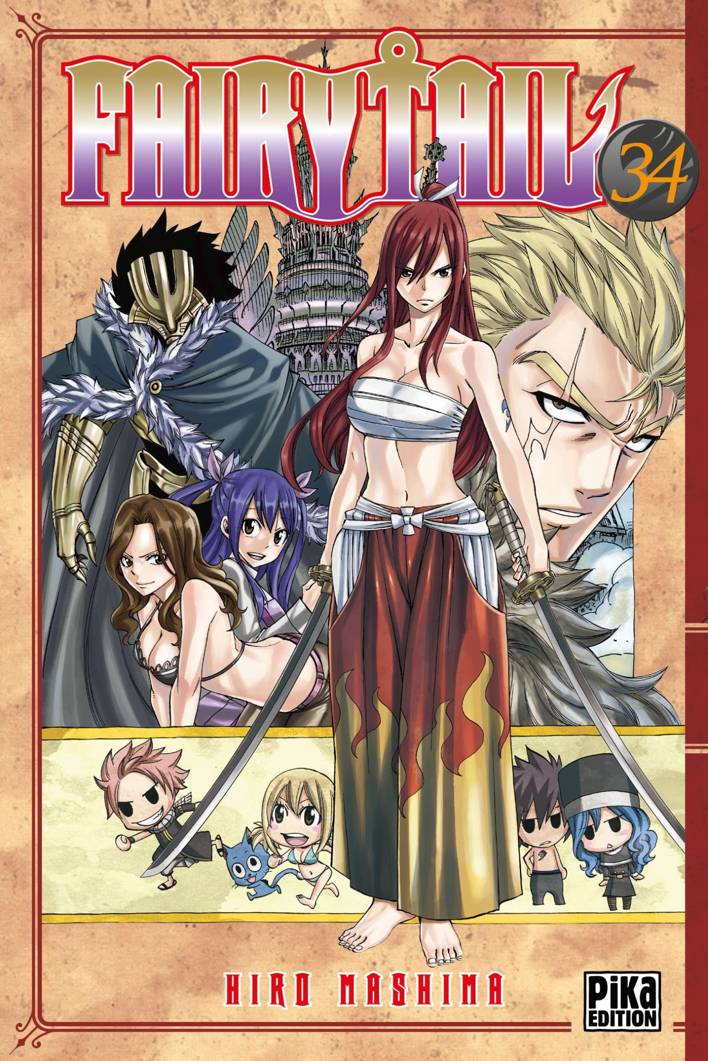 Fairy Tail Tome 34 Hiro Mashima 9782811613488 Amazon