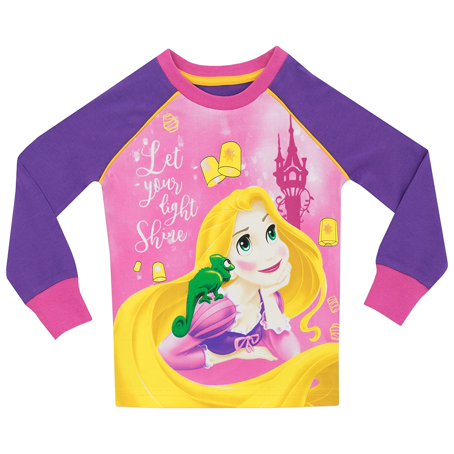 977c97e97 Disney Princess Girls Tangled Rapunzel Pyjamas - Snuggle Fit - Age 2 ...