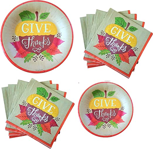 3 Piece Bundle with Coloring Tablecloth Napkins Thanksgiving Kids Table Tableware Set Serves 12 Dinner Plates