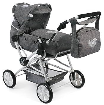 Amazon.es: Bayer Chic 2000 562 76 Super Carrito de muñecas Roadstar para niños Grandes, Jeans, Gris: Juguetes y juegos