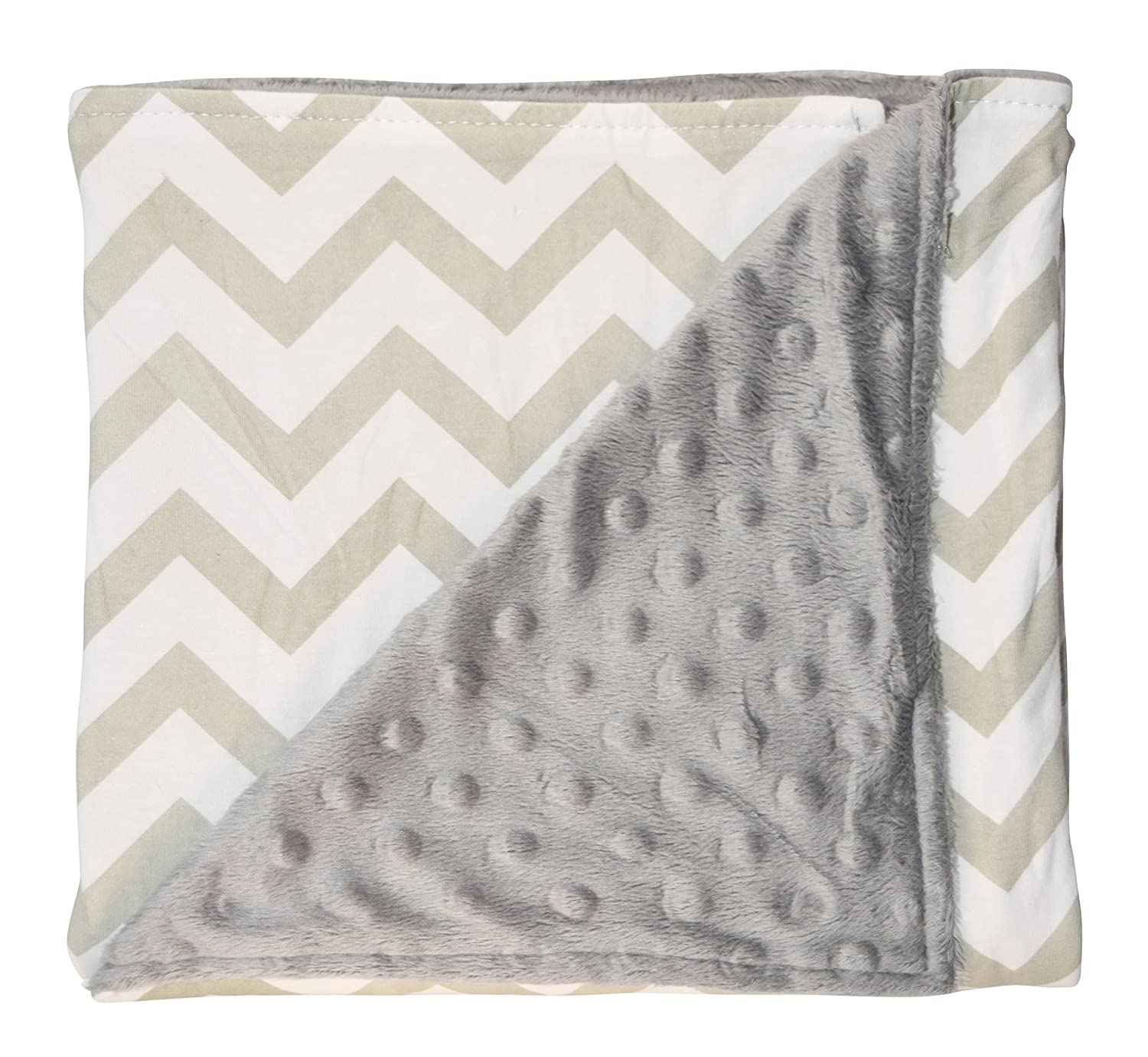 Unique Baby Trendy Blanket with Straight Edges Chevron Print Grey by Unique Baby   B01BT9AGIG