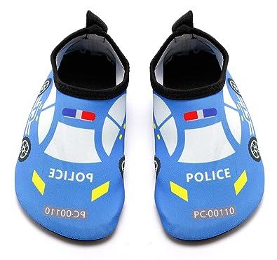 8f96fddea20aff Santimon Kids Boys Girls Aquatic Shoes Cute Swim Water Shoes Quick-Dry Aqua  Socks for
