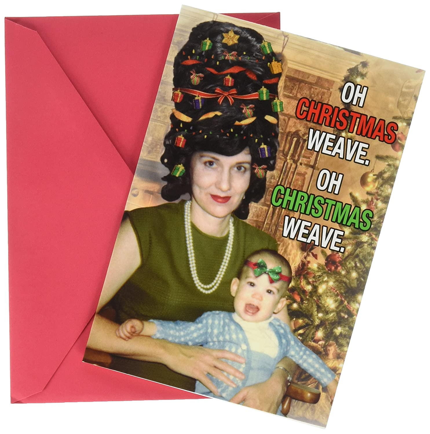 1907 \'Christmas Weave\' - Funny Merry Christmas Greeting Card with 5 ...