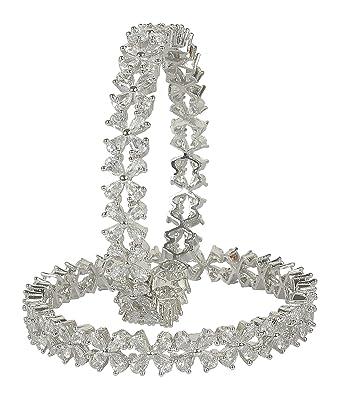 Muchmore American Diamond Look Swarovski Made Bangle For Women Wedding Indian Jewelry TNyBtWHTo