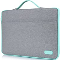 """ProCase 14-15.6 Inch Laptop Sleeve Case Protective Bag, Ultrabook Notebook Carrying Case Handbag for MacBook Pro 16"""" / 14"""" 15"""" 15.6"""" Dell Lenovo HP Asus Acer Samsung Sony Chromebook Computers -Light Grey"""