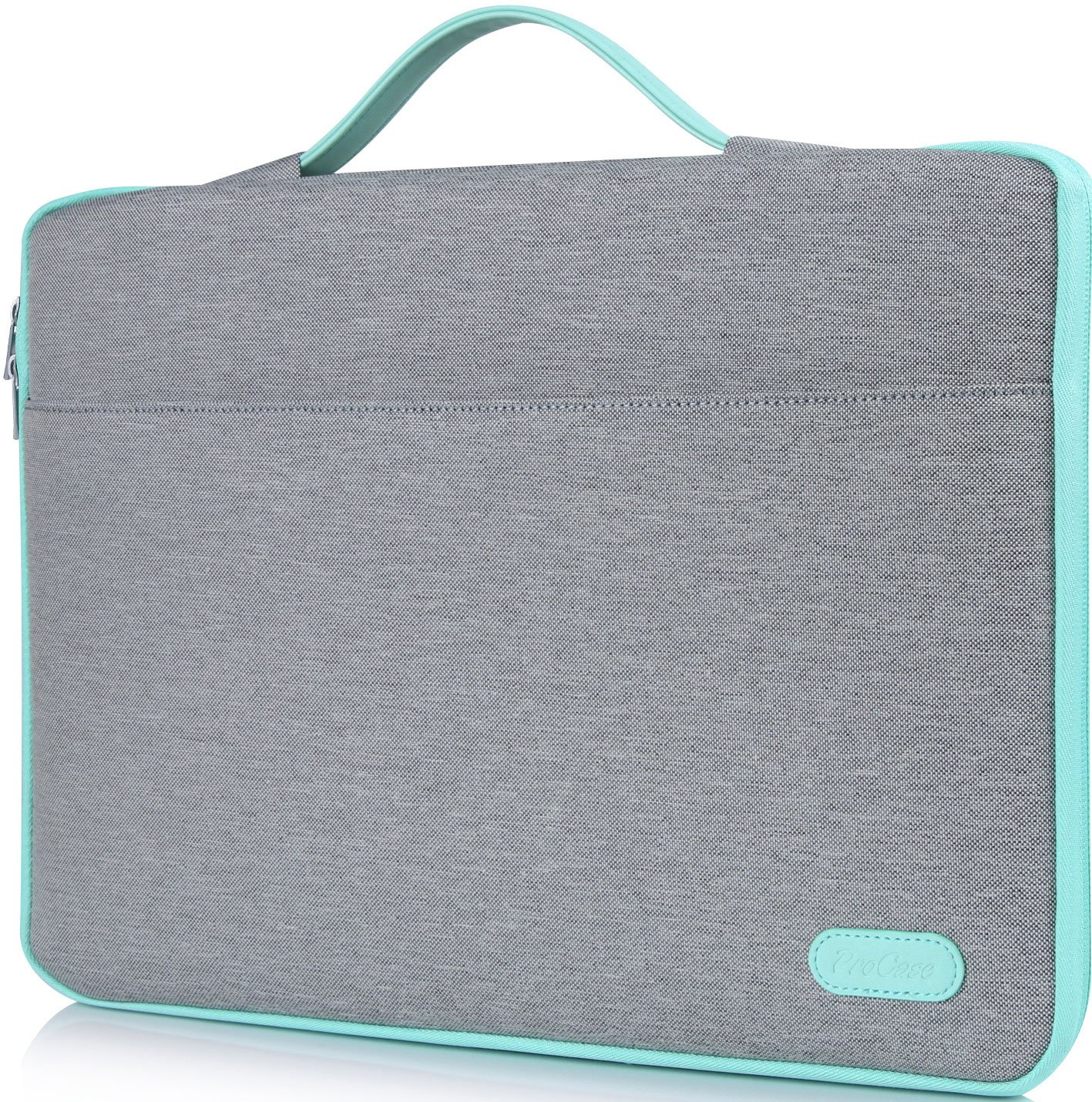 ProCase 14-15.6 Inch Laptop Sleeve Case Protective Bag, Ultrabook Notebook Carrying Case Handbag for 14'' 15'' Samsung Sony Asus Acer Lenovo Dell HP Toshiba Chromebook Computers -Light Grey by ProCase