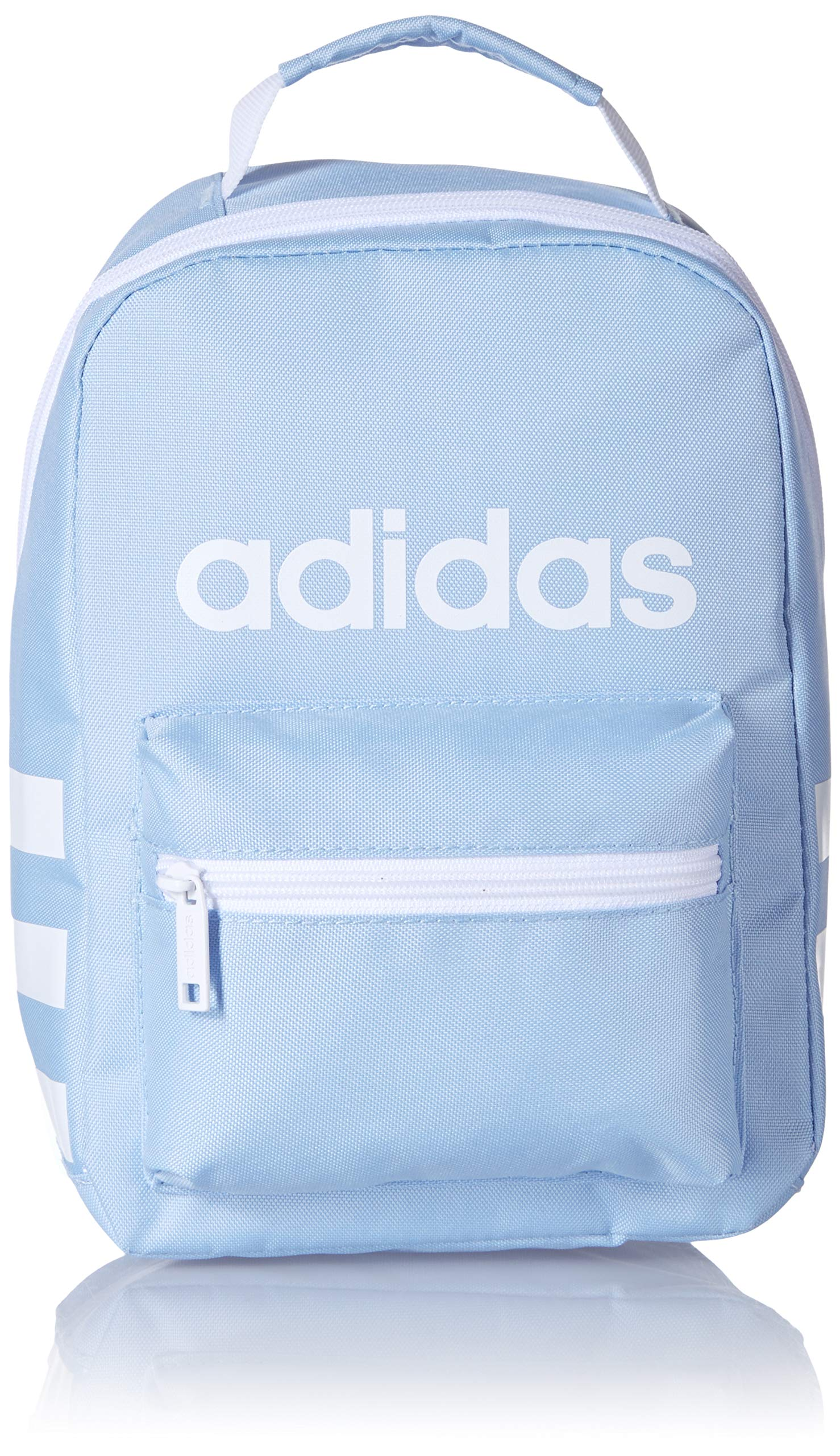 adidas Unisex Santiago Insulated Lunch Bag, Glow Blue/White, ONE SIZE by adidas