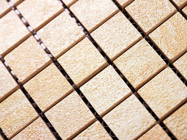 1 Tafel Sonderposten MOSAKO Feinsteinzeug Mosaik R11 beige mix 2,3x2,3x1,0cm