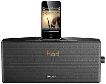 Philips estación base para iPod/iPhone AJ7034D/12 - Radio (Reloj, Digital, FM, 10 W, LED, Ámbar): Amazon.es: Informática