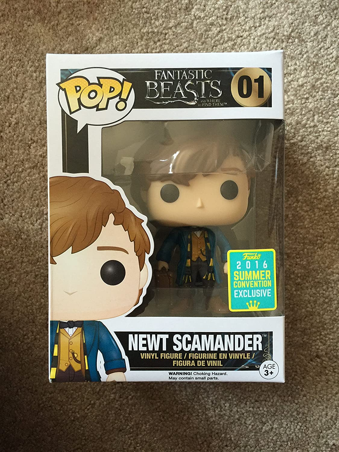Fantastic Beasts and where to find them Newt Vinyl Figure 01 Figura de colección Standard