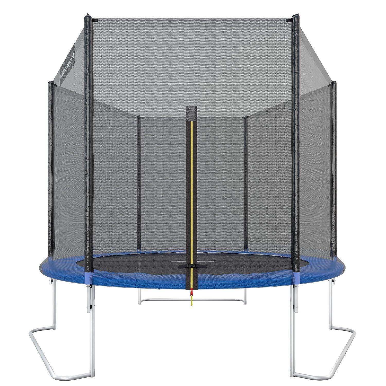 Ultrasport Jumper Cama elástica de jardín con red de seguridad incluida azul