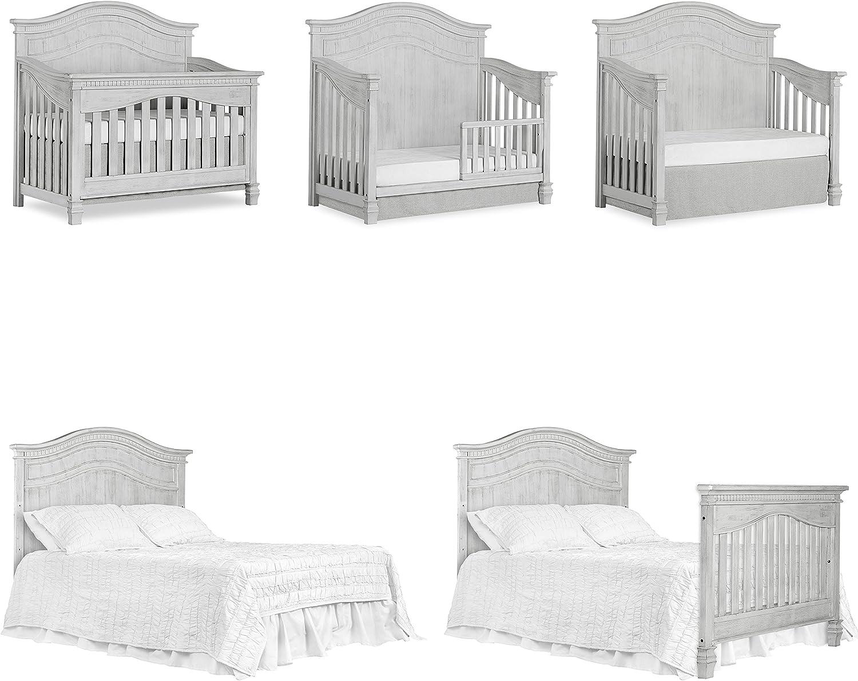 Evolur Cheyenne 5 in 1 Full Panel Convertible Crib Storm Grey