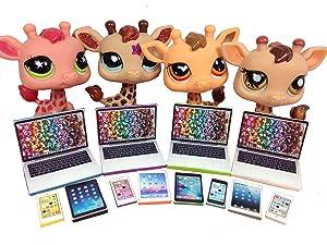 LPS Littlest Pet Shop 12 Accessories Lot Set 4 Laptops, 4 Tablets, 4 Phones PET NOT INCLUDED