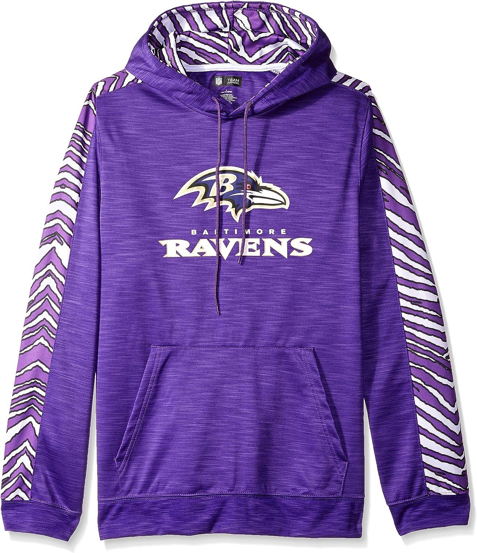 Team Color NFL Mens Zubaz Atlanta Falcons Slub Hood Pullover Hoodie Large