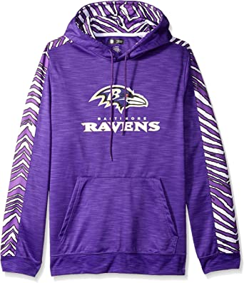 Zubaz Officially Licensed Mens NFL Mens Pullover Hoodie Team Color Team Color