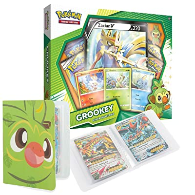 Totem World Galar Collection Box: Grookey & Zacian V with a Totem World Mini Binder Collectors Album Bundle: Toys & Games