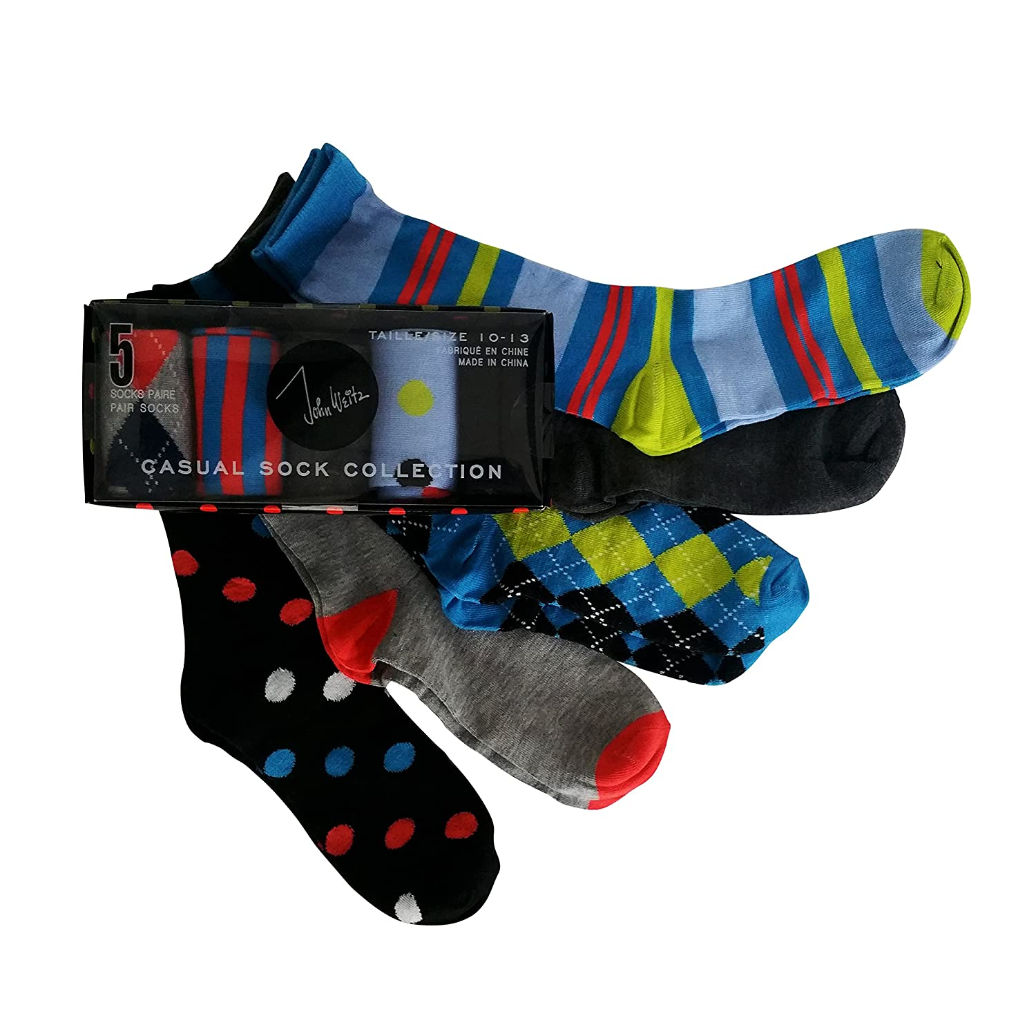 Amazon 5 Pack John Weitz Casual Sock Collection Mens Dress
