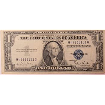 Amazon.com : 1935 Series D Silver Certificate in Very Good Condition ...