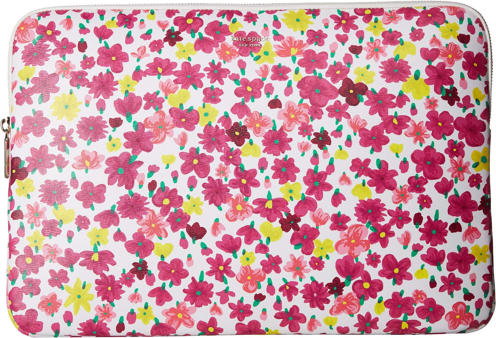 Kate Spade New York Women's Marker Floral Universal Laptop Sleeve Optic White Multi One Size by Kate Spade New York (Image #1)