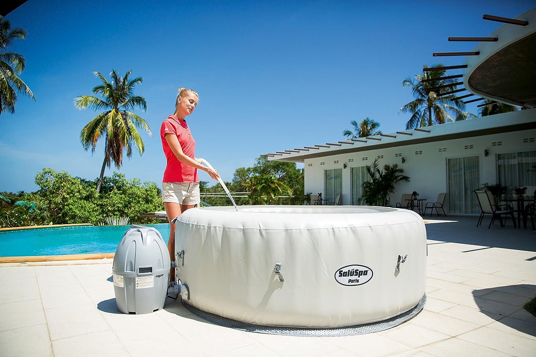 amazoncom saluspa paris airjet inflatable hot tub w led light show garden u0026 outdoor