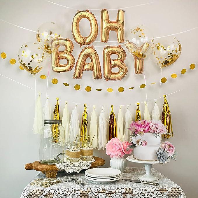 Gold /& Greenery Baby Shower Favors  Set of 6 4 oz candle Favors  Oh Baby Shower  Gender Neutral Baby Shower  Modern Baby Shower