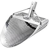 "CKG Metal Detecting Sand Scoop 11"" x 8"" Stainless Steel Shovel for Beach Treasure Hunting Designed with 7mm Hexagon Shaped Ho"