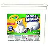 Crayola; Model Magic; White Modeling Compound; Art Tools; 2 lb. Resealable Bucket; Perfect For Slime Supplies Kit