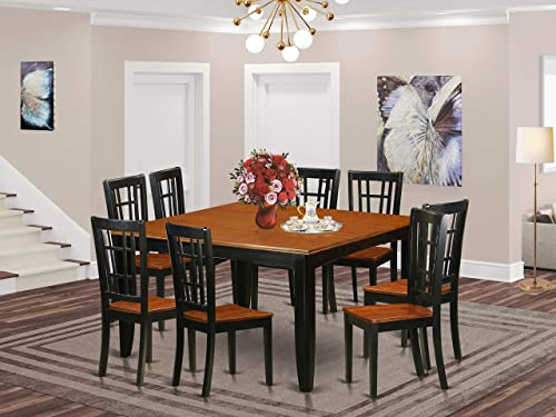 9 Pc Dining room set-Dining Table and 8 Wood Dining Chair