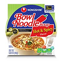 Nongshim Bowl Ramen/Udon (농심 사발면/생생 우동) (Hot & Spicy, 3.03 Ounce (Pack of 24))