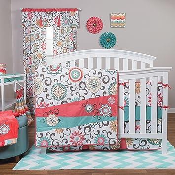 amazoncom trend lab waverly floral pom pom play window valance baby - Waverly Bedding
