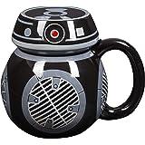 Star Wars BB-9E Droid Mug - Ceramic Figural Coffee Mug with Removable Lid - 16 oz