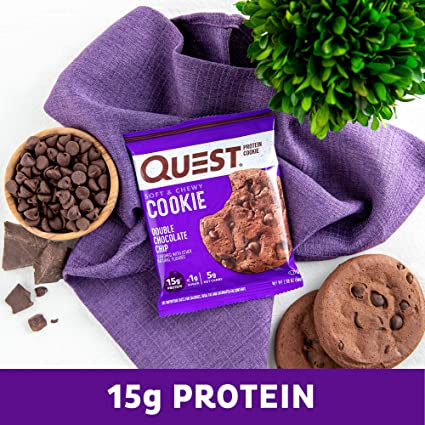 Quest Nutrition Protein Cookie Double Chocolate Chip - 12 Barras