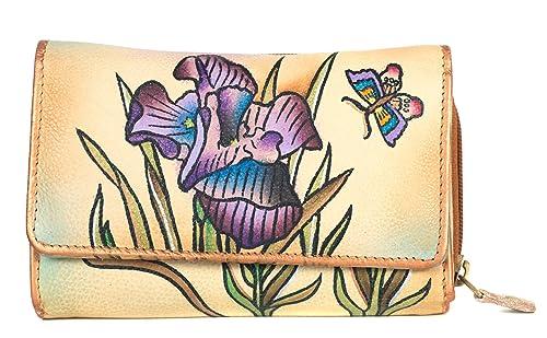 Zimbelmann Iris-Maria - Monedero (piel de napa, pintado a ...
