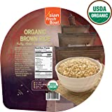 Microwaveable Organic Steamed Brown Instant Rice, Asian Fresh Bowl, 7.2 Ounce Pack of 12, Non GMO No Preservatives No Gluten No BPA