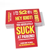 You Suck At Parking Cards (Pack of 50) - Color - Prank Cards - Joke