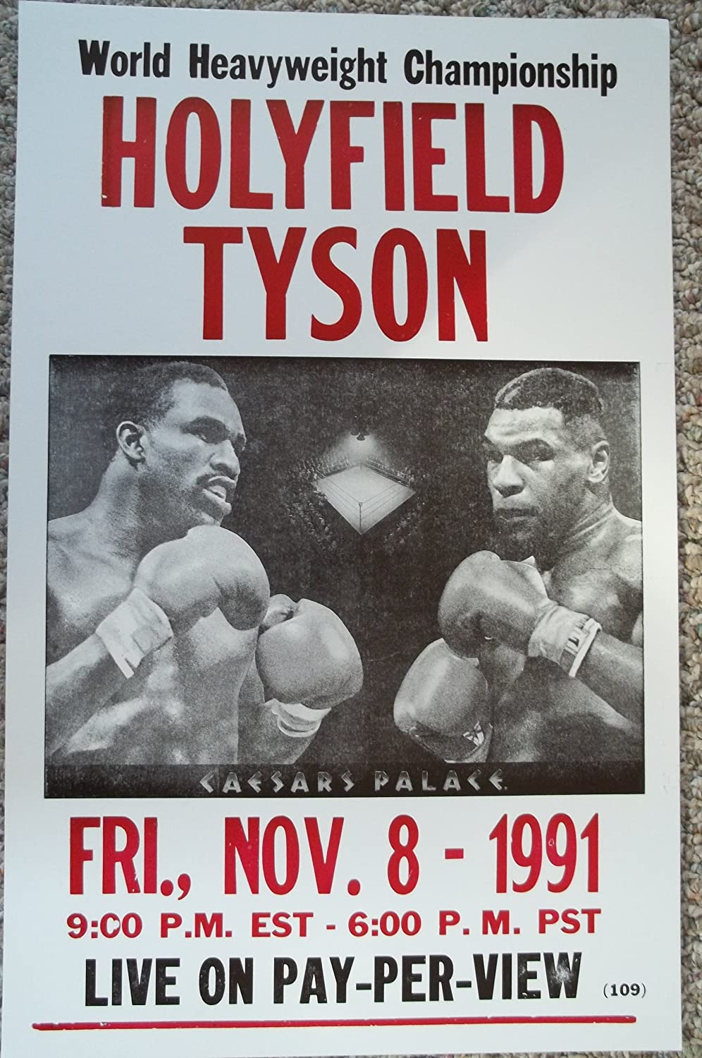 EVANDER HOLYFIELD Poster Fight Art Print Classic Boxing Canvas Sticker C