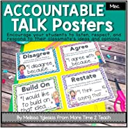 Accountable Talk & Collaborative Conversation Posters {with sentence starters} Polka Dots