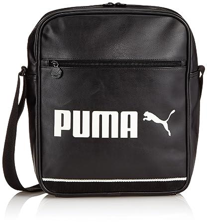 ff9ac4bd03 PUMA Tasche Campus Flight Bag Black Whisper White 28 x 35 x 11 cm ...