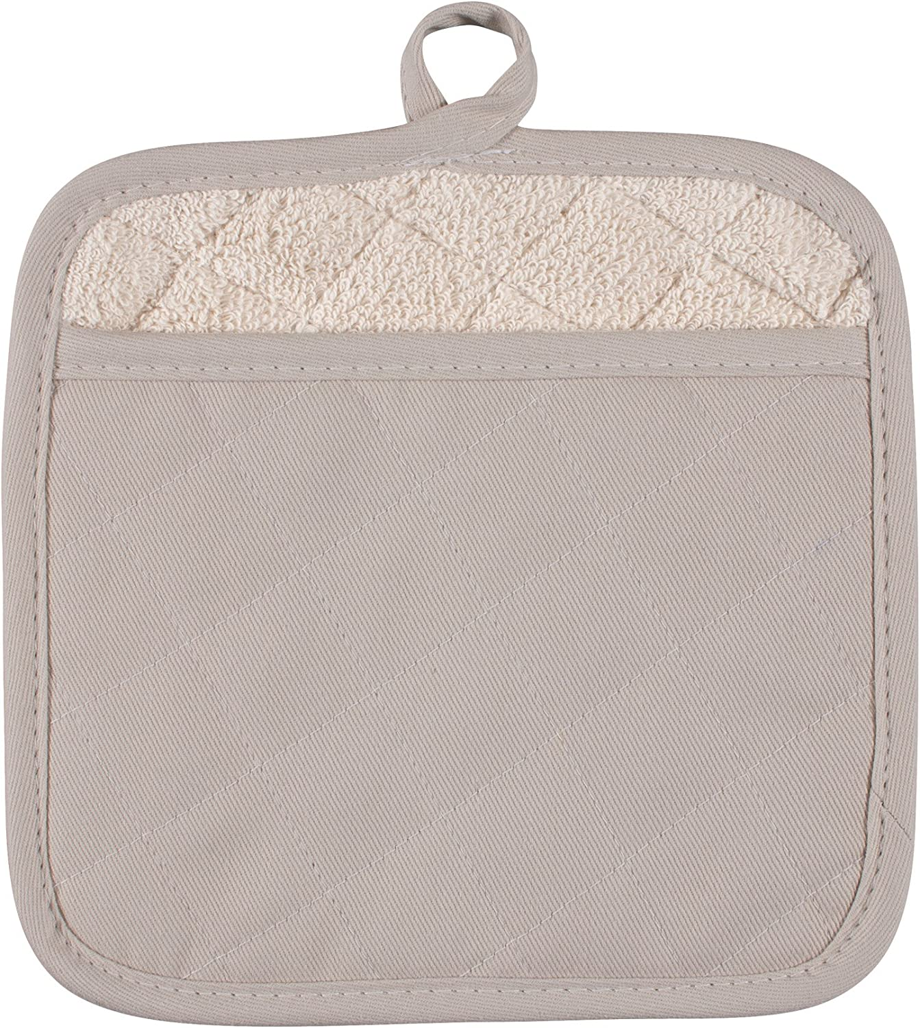 KAF Home Chefs Solid Pot Mitt, Oatmeal, 100% Cotton, Machine Washable, Made in USA