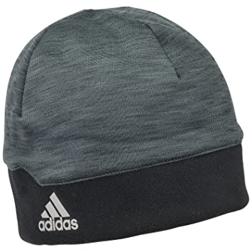 adidas Men s Running Climaheat Beanie - Heat Dark Grey Melange Black Reflective  Silver 9ab191e2f9e