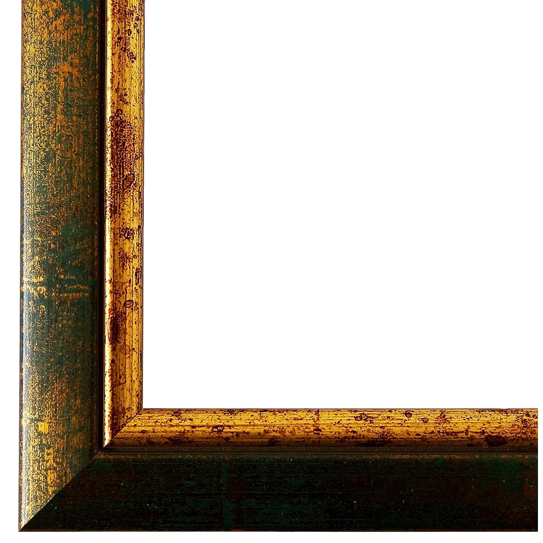 Bilderrahmen Grün Gold 40 x 60 cm - Modern, Klassisch - Alle Größen - Handgefertigt - Galerie-Qualität - WRF - Perugia 4,0