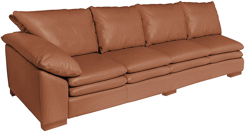 Amazon.com: Omnia Leather Fargo Left Arm 4 Cushion Sofa in Leather ...