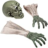Prextex Halloween Zombie Face and Arms Lawn