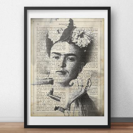 Lámina para enmarcar Frida Kahlo con la definición de Arte. Poster ...