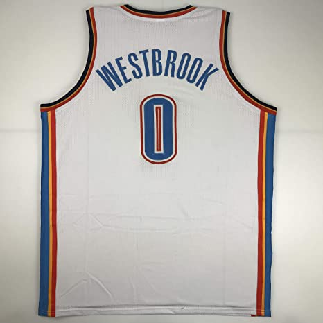 3942f45a39c Unsigned Russell Westbrook Oklahoma City White Custom Stitched Basketball  Jersey Size Men s XL New No Brands