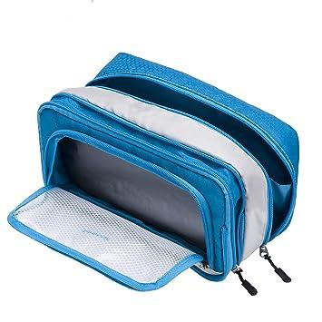 Lermende Clear Shaving Dopp Kit for Men Travel Toiletry Bag With Hand Strap Unisex Bathroom Toiletries Organiser Toiletry Bag
