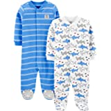 Simple Joys by Carter's Baby-Boys 2-Pack Cotton Snap Footed Sleep and Play