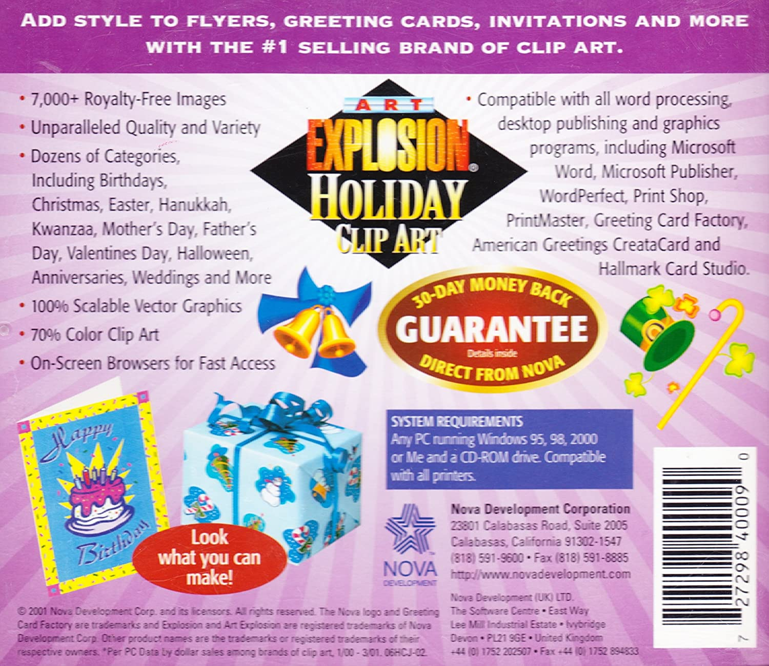 Art Explosion Royalty Free Holiday Clip Art For Flyers Greeting