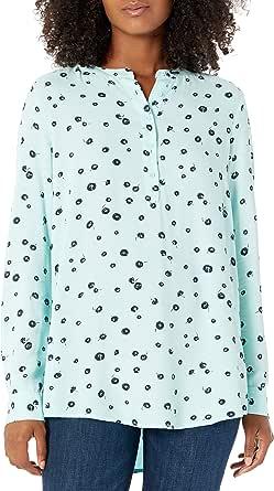 Amazon Essentials Blusa Tejida de Manga Larga Dress-Shirts Mujer