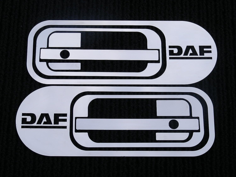 2 juegos de paneles decorativos para tiradores de puerta, en acero inoxidable, para camiones DAF XF95 XF105, pulido MD015